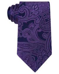 Michael Kors | Purple Michael Men's Scalloped Paisley Tie for Men | Lyst