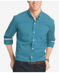 Izod | Purple Men's Big And Tall Gingham Long-sleeve Shirt for Men | Lyst