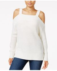 Sanctuary | White Amelie High-low Cold-shoulder Sweater | Lyst
