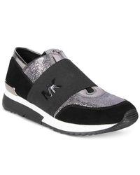 Michael Kors | Black Michael Mk Trainer Sneakers | Lyst