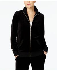 Michael Kors | Black Michael Velour Active Jacket | Lyst
