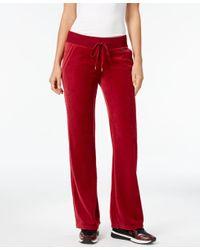 Michael Kors - Red Michael Petite Velour Pull-on Pants - Lyst