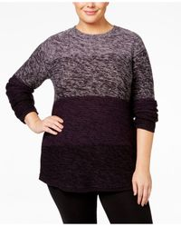 Style & Co. | Multicolor Plus Size Ombré Sweater | Lyst
