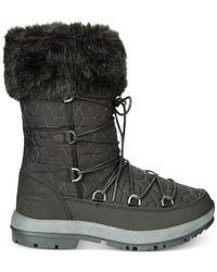 BEARPAW - Black Women's Boetis Ii Curly Lamb Boot - Lyst