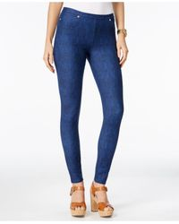 Michael Kors | Blue Pull-on Denim Leggings | Lyst