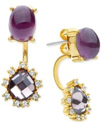 Lonna & Lilly   Metallic Stone And Crystal Front And Back Earrings   Lyst
