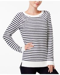Maison Jules   Blue Striped Raglan Sweater, Only At Macy's   Lyst