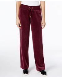 Calvin Klein - Red Plus Size Velour Pants - Lyst