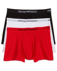 Emporio Armani | Red Men's 3 Pack Boxer Briefs for Men | Lyst