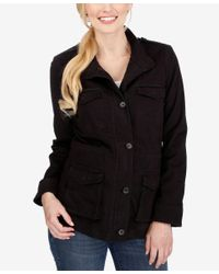 Lucky Brand | Black High-collar Zippered Jacket | Lyst