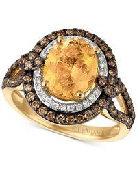 Le Vian | Metallic Chocolatier® Yellow Beryl (1-3/4 Ct. T.w.) And Diamond (3/4 Ct. T.w.) Ring In 14k Gold | Lyst