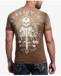 Affliction | Brown Men's Graphic-print T-shirt for Men | Lyst