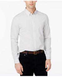 Michael Kors | White Men's Button-down Grid-pattern Shirt for Men | Lyst