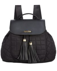 Calvin Klein | Black Quilted Nylon Backpack | Lyst