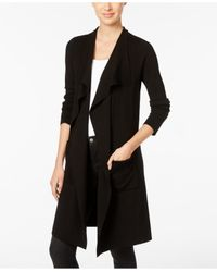INC International Concepts | Black Petite Duster Cardigan, Only At Macy's | Lyst
