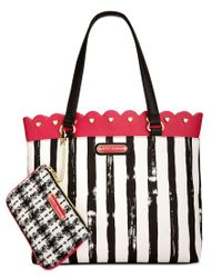 Betsey Johnson | Red Scallop-trim Tote With Pouch | Lyst