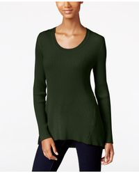 Style & Co. | Green Petite Scoop-neck Sweater, Only At Macy's | Lyst