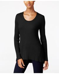 Style & Co. | Black Petite Scoop-neck Sweater, Only At Macy's | Lyst