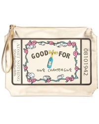 Betsey Johnson | Metallic Boxed Kitsch Pouch, A Macy's Exclusive Style | Lyst