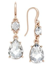 Charter Club - Metallic Colored Crystal Drop Earrings, Only At Macy's - Lyst