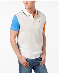 Tommy Hilfiger - Blue Owen Pieced Colorblocked Polo for Men - Lyst