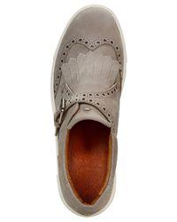 Frye - Gray Women's Gemma Kiltie Detailed Sneakers - Lyst