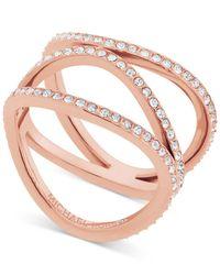 Michael Kors - Metallic Cubic Zirconia Wavy Layers Ring - Lyst