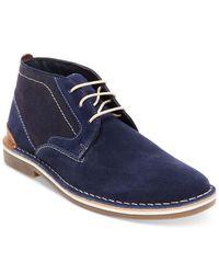 Steve Madden Blue Men's Hot Shot Chukka Boots for men