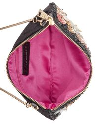 Steve Madden - Black Aloha Small Pouch With Floral Appliqué - Lyst