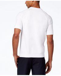 Sean John - White Men's Short-sleeve Button-front Cotton Sweater for Men - Lyst