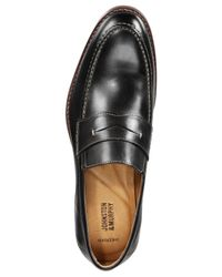 Johnston & Murphy - Black Men's Garner Penny Loafers for Men - Lyst