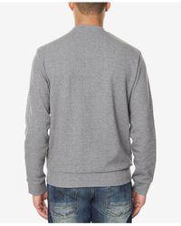 Sean John - Gray Men's Colorblocked Mixed-media Sweatshirt for Men - Lyst