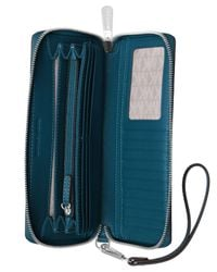 Michael Kors - Blue Saffiano Leather Continental Wallet - Lyst