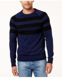 Tommy Hilfiger - Blue Men's Shaw Striped Sweater for Men - Lyst