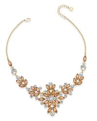 Charter Club - Metallic Gold-tone Multi-crystal Statement Necklace - Lyst