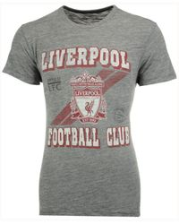 47 Brand Gray Men's Liverpool Fc Crest Tri-state T-shirt for men