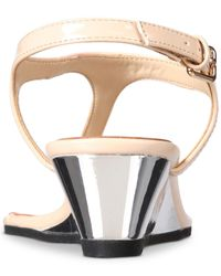 Callisto - Multicolor Spring Thong Wedge Sandals - Lyst