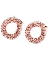 Michael Kors | Pink Pavé Twist Huggie Earrings | Lyst