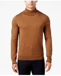INC International Concepts   Brown Men's Fine Gauge Turtleneck, Only At Macy's for Men   Lyst