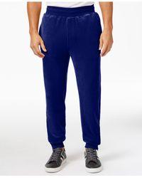 Sean John   Blue Men's Velour Track Pants for Men   Lyst