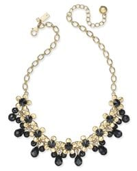 kate spade new york | Metallic Sunset Blooms Gold-tone Crystal Garland Necklace | Lyst