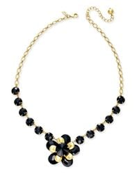 kate spade new york | Black Sunset Blooms Gold-tone Flower Statement Necklace | Lyst