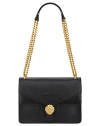 Anne Klein | Black Diana Large Double Flap Chain Bag | Lyst