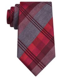Geoffrey Beene | Red Men's Mad For Plaid Tie for Men | Lyst