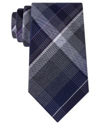 Kenneth Cole Reaction | Purple Men's Perfect Plaid Tie for Men | Lyst