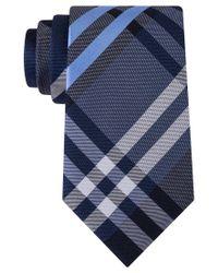 Kenneth Cole Reaction | Blue Men's Duo Plaid Tie for Men | Lyst