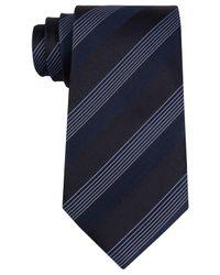 Kenneth Cole Reaction | Black Men's Elegant Stripe Tie for Men | Lyst