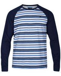 Hurley | Blue Men's Stripe Thermal Knit Raglan Sleeve Shirt for Men | Lyst
