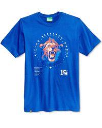 LRG   Blue Men's Graphic-print T-shirt for Men   Lyst