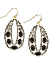 INC International Concepts | Metallic Pave Decorative Drop Earrings, Only At Macy's | Lyst